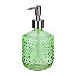 Rail19 Hobnail Green Glass Liquid Hand Soap Dispenser Pump f