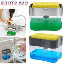 Hot Soap Pump & Sponge Caddy 2 in 1 Soap Dispenser Kitchen U