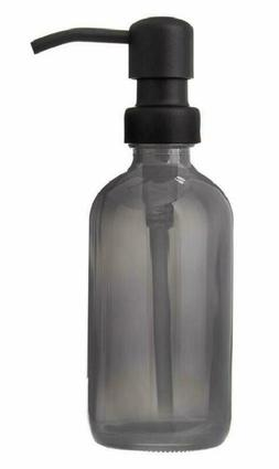 Industrial Rewind Gray Grey Soap Dispenser 8Oz Glass Soap Di