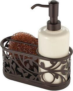 InterDesign Vine Ceramic Soap Pump with Caddy Dispenser with