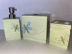 Pottery Barn Kids Bath Dragonfly Tissue Box, Soap Dispenser,