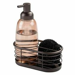 mDesign Kitchen Countertop Soap Dispenser and Sponge Caddy -