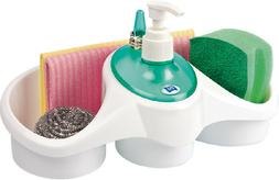 Kitchen Liquid Soap Dispenser Sponge Holder Counter Top Orga