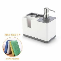 Kitchen Liquid Soap Dispenser With Storage Shelf Organizer H