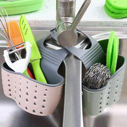 Kitchen Organiser Sink Caddy Basket Dish Cleaning Sponge Hol