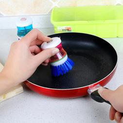 Kitchen Pot Cleaning Brushes Easy Use Palm Scrubber Wash Cle