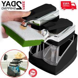 Kitchen Sink Caddy With Soap Dispenser Sponge Holder Liquid