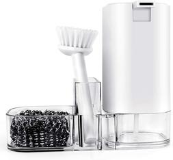 Kitchen Sink Countertop Organizer Soap Dispenser Storage Box