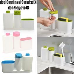 Kitchen Sink Detergent Holder Soap Dispenser Storage Rack Wa