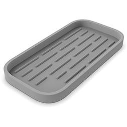 Kitchen Sink Organizer Silicone Sponge Holder Storage Tray D