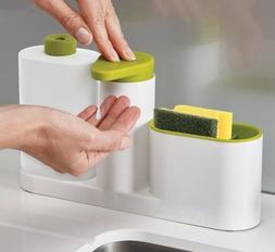 Kitchen Storage Shelf Multifunction Sponge Holder Soap Deter