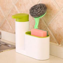 Kitchen Washing Sponge Storage Sink Detergent Soap Dispenser