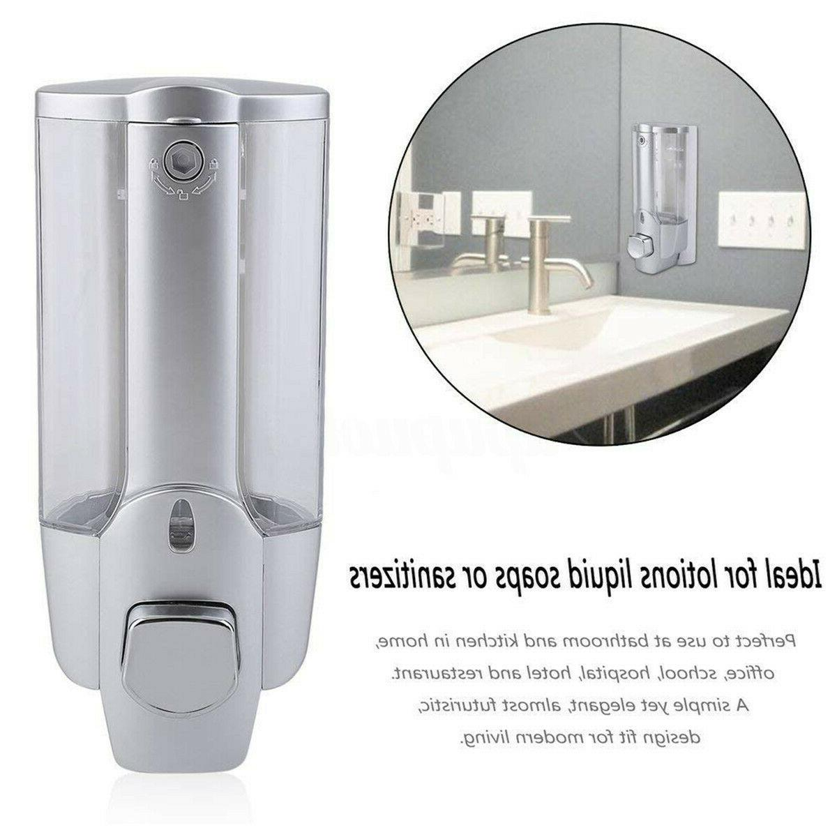 1/2/3 Shower Shampoo Lotion Bathroom Wall Container