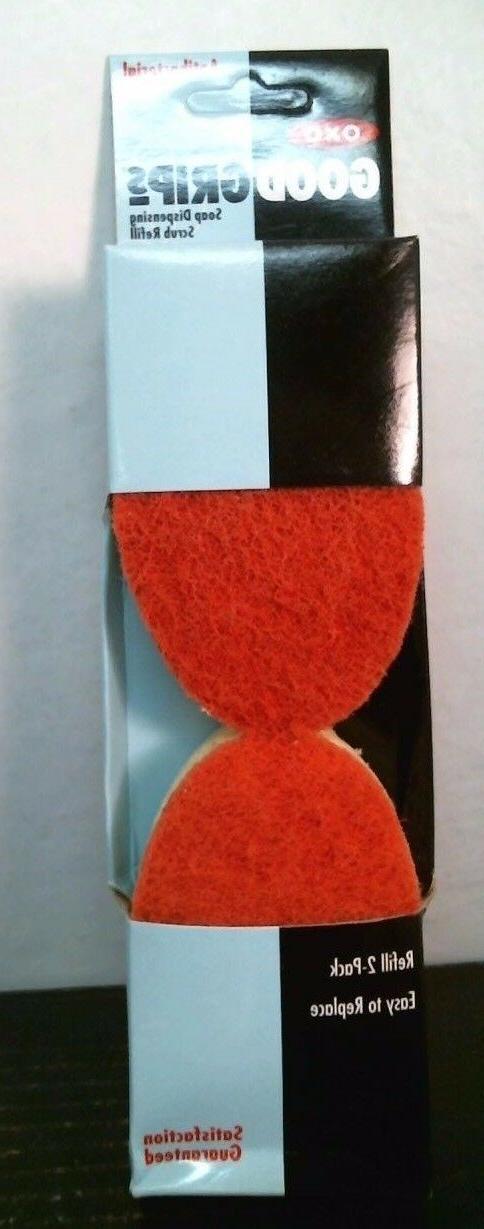 OXO 1044106 Good Grips Soap Dispensing Scrub Refill, 2 pk, F