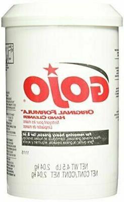 GOJO 1115-06 Original Formula Hand Cleaner, 4.5 Lb Plastic C