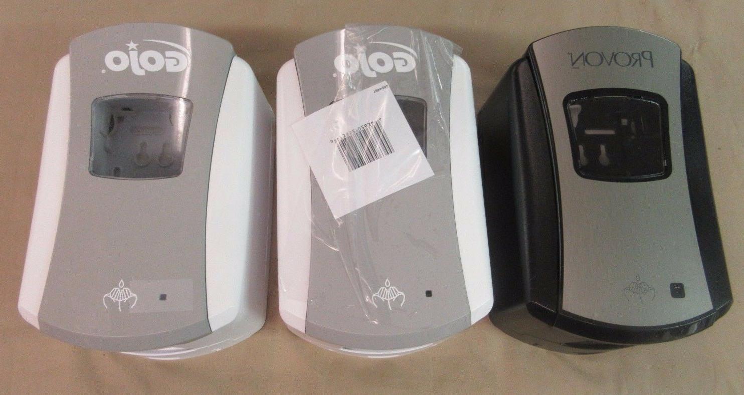 2 Gojo & 1 Provon  Ltx-7 Dispenser Grey Automatic 23.7 Fl Oz