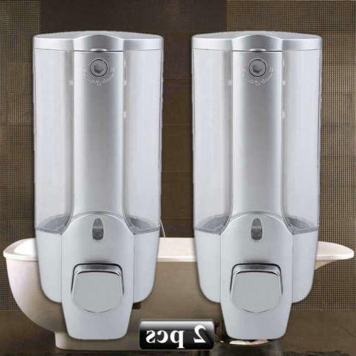 2 Pack Foam Liquid Soap Dispenser Hand Wash 350ml Wall Mount