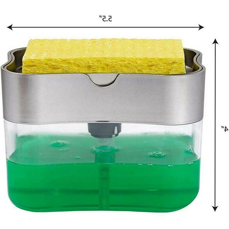 2-in-1 Rack Soap And Sponge Caddy 13-OZ