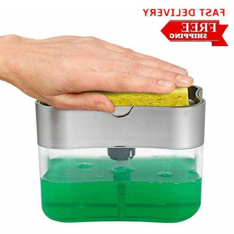 2 in1 kitchen liquid soap pump dispenser