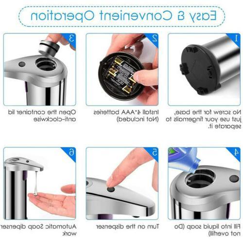 250ml Auto Sensor Soap Dispenser Kitchen Bathroom