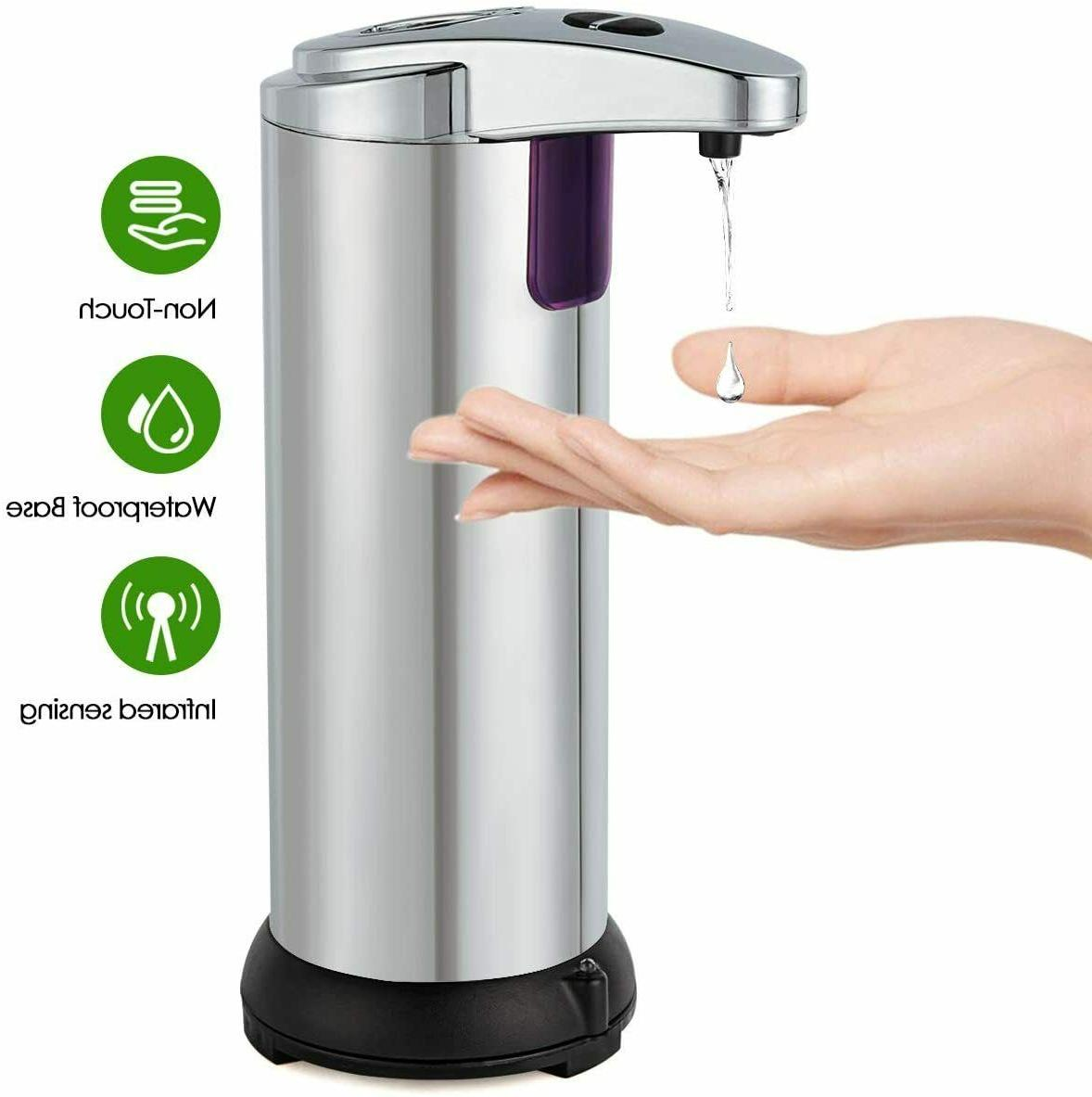 280ml Stainless Handsfree Sensor Touchless Soap Kitchen