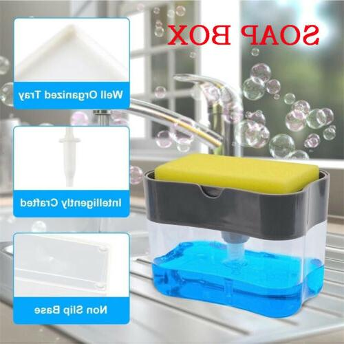 2in1 Soap & Sponge Holder Dish and Sponge for US