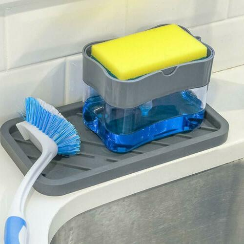 2in1 Soap Pump Dispenser & Dish Sponge for US