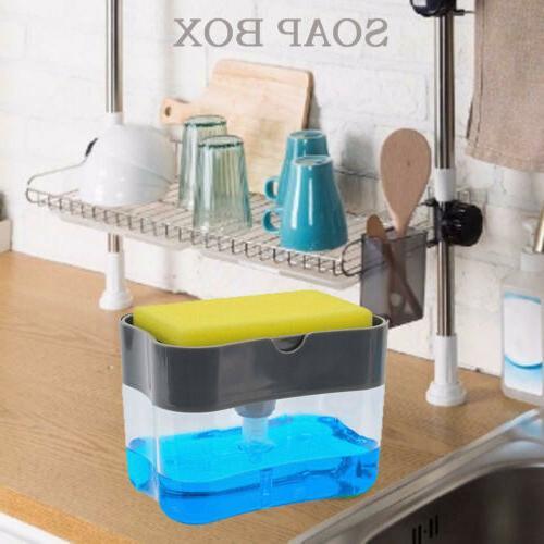 2in1 soap pump dispenser and sponge holder
