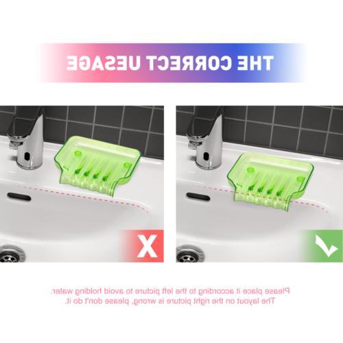 2Pack Soap Dish Dispenser Holder Holder
