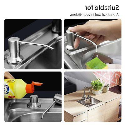 300ML Steel Sink Dispenser Pump Kitchen Bathroom