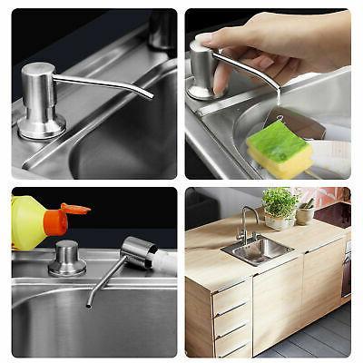 300ML Chrome Soap Dispenser Soap Hand Liquid Bottle US