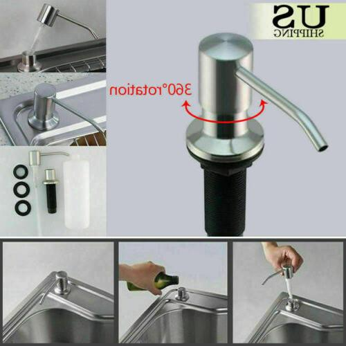 304 stainless steel soap dispenser health convenience