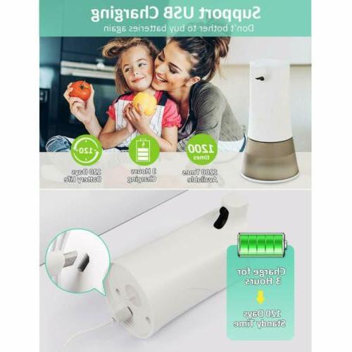 350ML Soap Alcohol Sprayer Dispenser IR Sensor