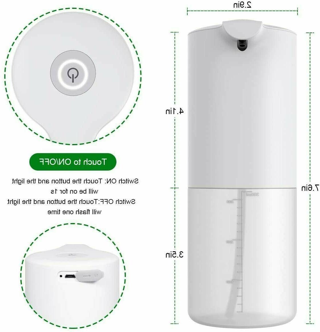 350ml Automatic Soap Dispenser Hands-Free Foaming Liquid