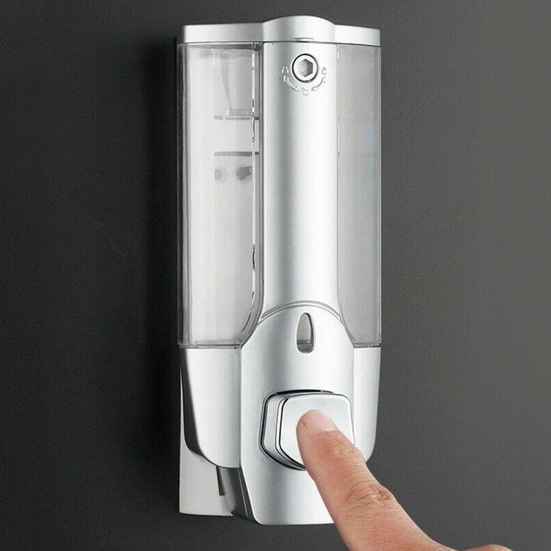 350ml Shower Liquid Soap Lotion Dispenser Mounted Bathroom