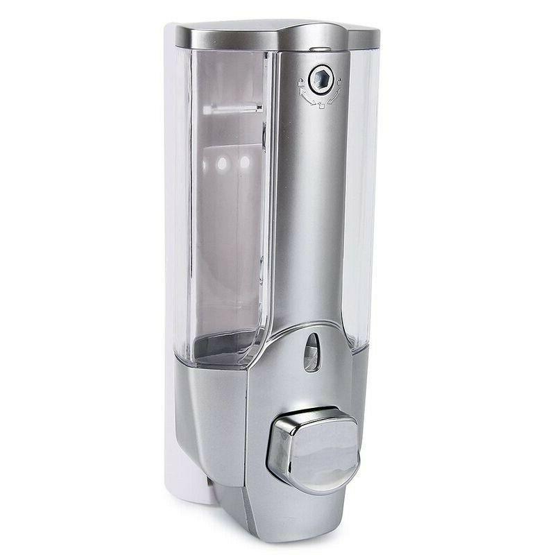 350ml Shower Shampoo Soap Dispenser Mounted Bathroom Washroom