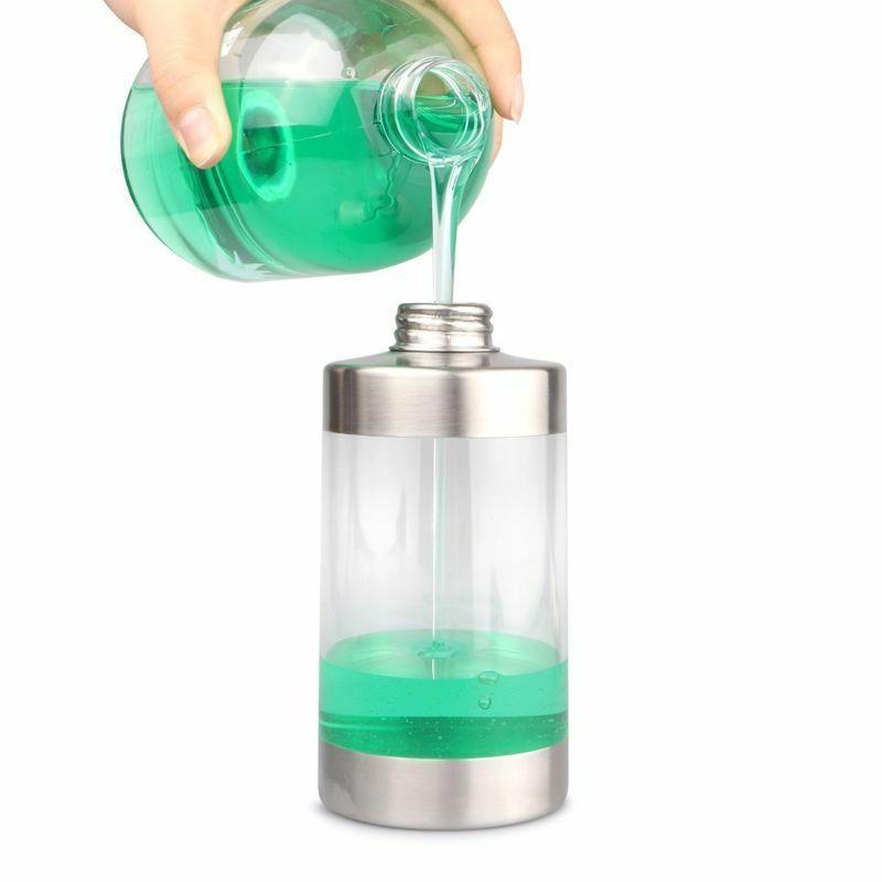 350ml Stainless Steel Soap Dispenser Pump Bottle Bathroom