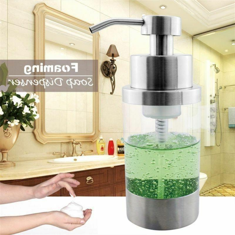 350ml Stainless Steel Liquid Soap Dispenser Foam Pump Bottle