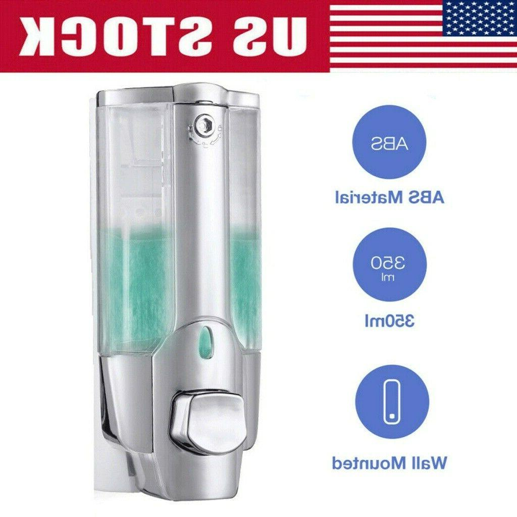 350ml wall mounted soap dispenser bathroom shower