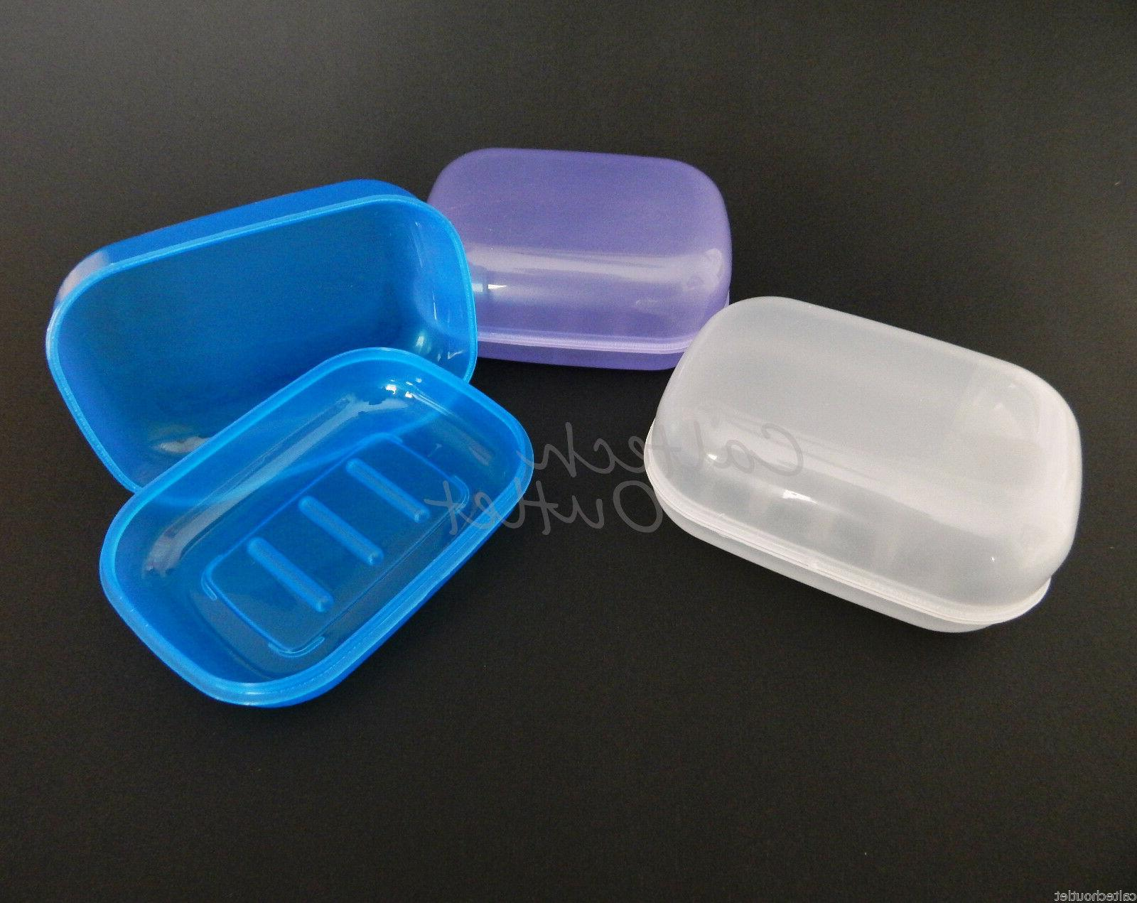 3pc soap dispenser dish case holder container