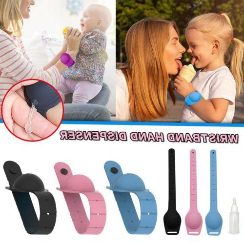 3pcs portable bracelet wristband hand soap dispenser