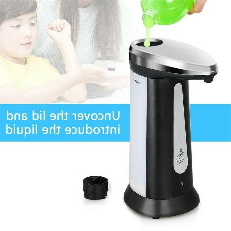 3X Stainless Handsfree Automatic IR Liquid Soap Dispenser