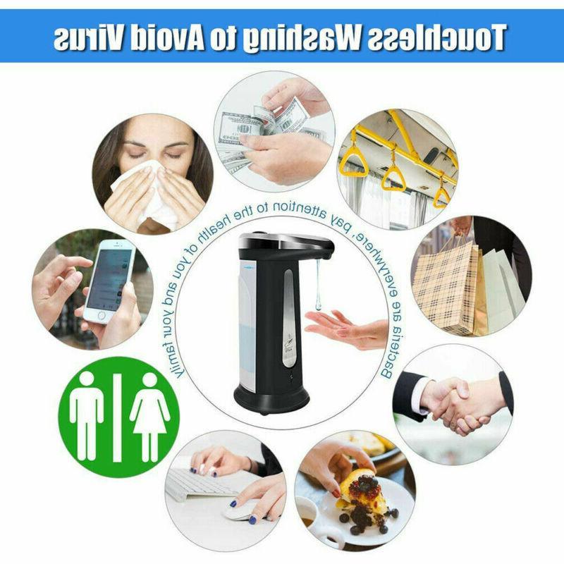3X Steel Handsfree Automatic Liquid Soap