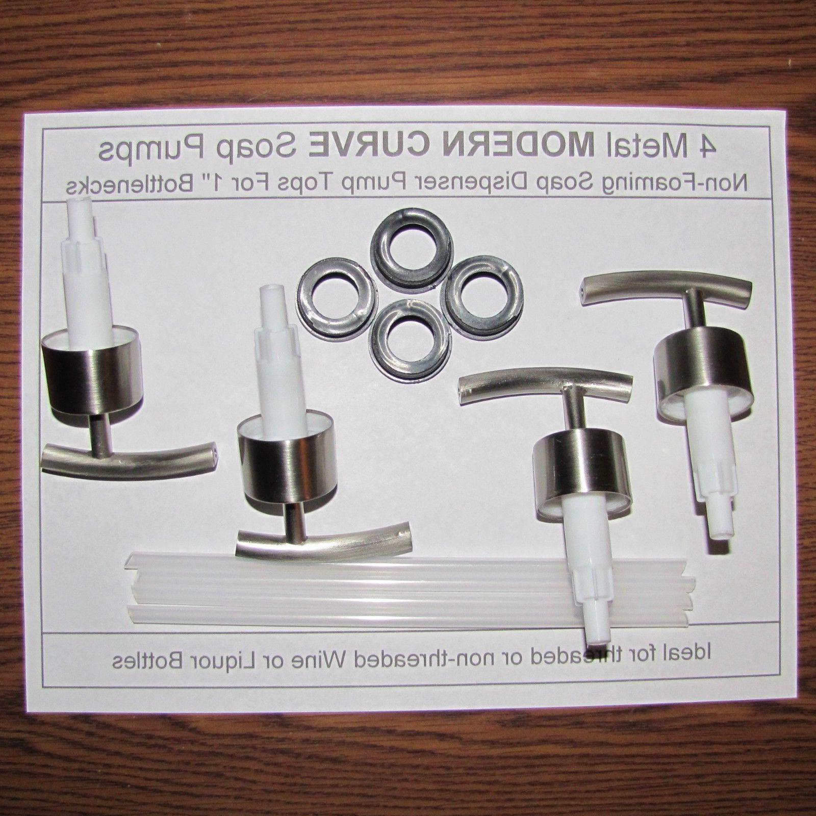 4 Soap Dispenser Pump Replacement Tops for Wine or Liquor Bo