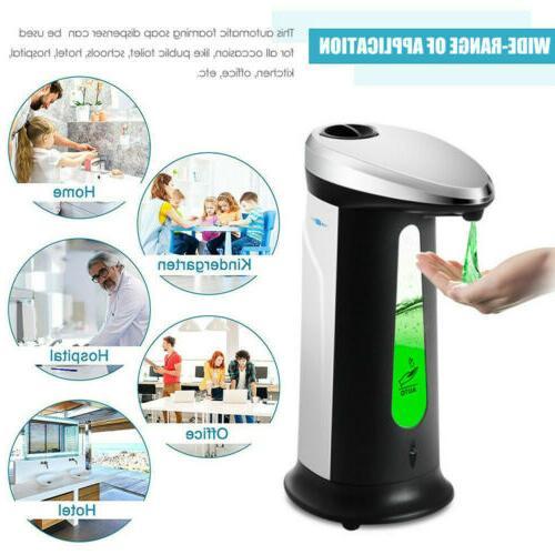 400ML Auto Soap Dispenser Touchless Smart IR Sensor Liquid H