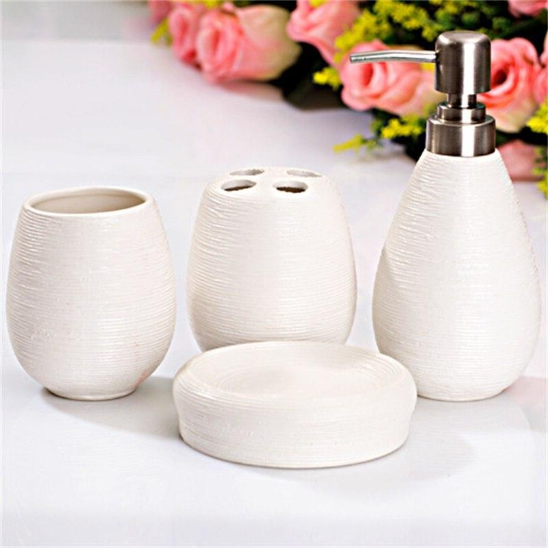 4Pcs/Set Ceramic Set Bathing Includes <font><b>Soap</b></font> Box Toothbrush <font><b>Holder</b></font> <font><b>Soap</b></font> <font><b>Soap</b></font> Dish