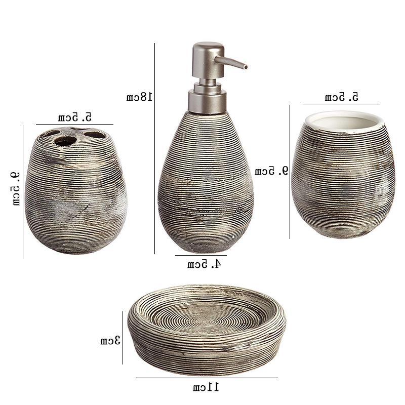 4Pcs/Set Ceramic Set Bathing Includes <font><b>Soap</b></font> Cup Toothbrush <font><b>Soap</b></font> Dish Set