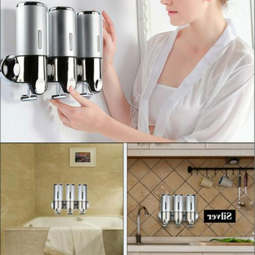 Bathroom Wall Mounted Manual Shower Gel Dispenser for Lotion