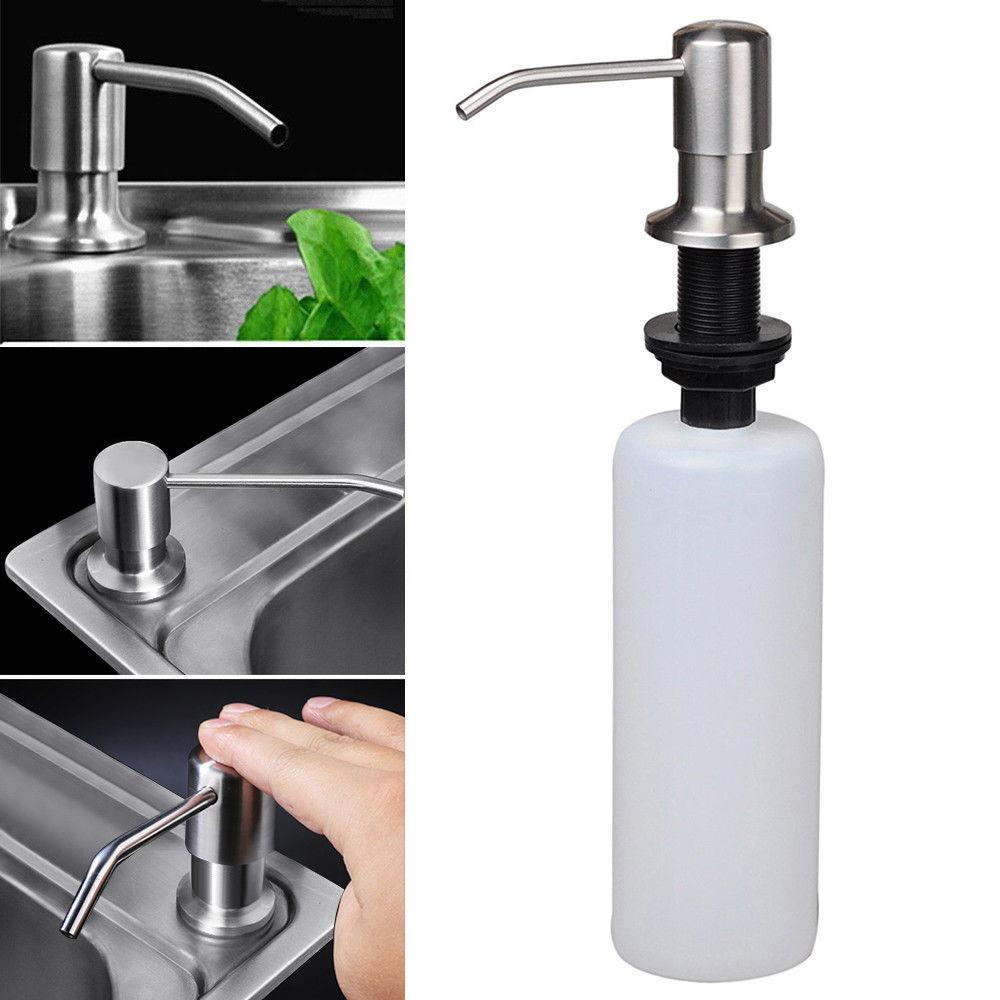 500ML Stainless Steel Soap Lotion Kitchen Bathroom Pump