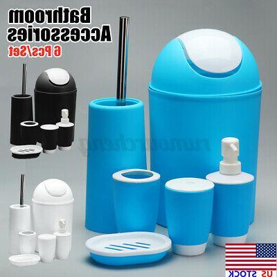 6 pcs set bathroom tumbler accessories bin